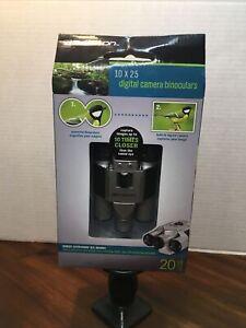 New Emerson 10x25 Digital Camera Binoculars - LCD Display 20 Photo Capacity
