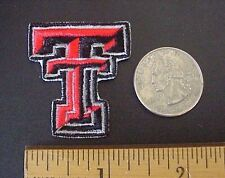 "TEXAS TECH TT Red Raiders Embroidered 1 1/2"" High x 1 1/4"" Iron-On Mini Patch"