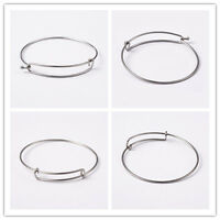 50 Pcs 304 Stainless Steel Bangle DIY Making Jewelry Design Findings About 62mm