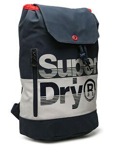 Superdry 2021 Cruiser Backpack Blue Gym Laptop Office School Bag Rucksack SALE!