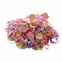 50pcs Resin Band Elastic Hair Bands Kids Cartoon Girls Hair Accessories  Fas/de