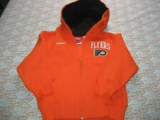 BOYS REEBOK PHILADELPHIA FLYERS FULL ZIP HOODIE ORANGE  SIZE 3T  NWT