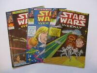 MARVEL STAR WARS WEEKLY Comics x 3. 1979/1980 - Issues 96,98,100