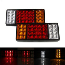 Pair Rear Stop LED Tail Lights Indicator Lamp For Trailer Truck Tipper Van Boat