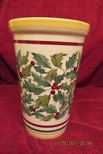 Longaberger Pottery Vase American Holly