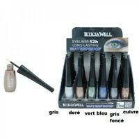Eye liner couleur métallic waterproof LETICIA WELL fin longue tenue