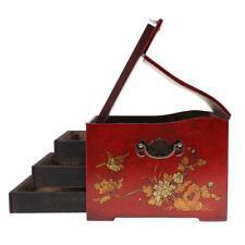 Cassetto per gioielli in legno con cassettiera retro in legno