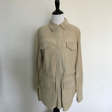 Vince Suede Leather White Coat Size Small / P