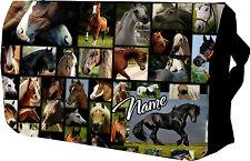 Personalizzata Cavallo Scuola / Messenger / SHOLDER / Scuola / Borsa per laptop, REGALO
