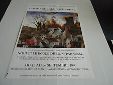 AFFICHE.HOMMAGE A MAURICE ANDRE.NOUVELLE ECOLE DE MONTPARNASSE.1990