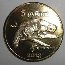 2013 Kuril Islands (Russia) 5 rubles, Japanese Marten, animal wildlife coin