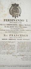 ANTICO EDITTO BORBONICO_MILITARIA_GIBERNE ALLE MILIZIE_LEGIONARI_ARALDICA_STEMMA