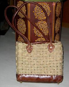 Shopper Seegrasgeflecht mit Leder Marokko  NEU 0221