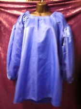Blue satin ish renaissance victorian skirt and chemise Med Large 8 10 12 14 16