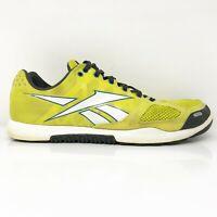Reebok Mens Crossfit Nano 2.0 J99445 Yellow Running Shoes Lace Up Size 10