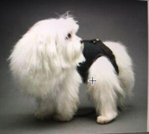 Black linen cotton pet small dog carrier harness sling puppy purse M L XL