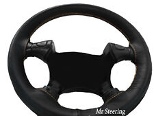 FITS SCANIA 3 SERIES TRUCK 87-97 BLACK LEATHER STEERING WHEEL COVER CREAM STITCH