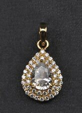 Real 14KT Yellow Gold 3.10 Carat Fabulous Pear Cut Solitaire Engagement Pendant