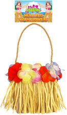 HAWAIIAN HULA BAG WITH FLOWERS LUAU TROPICAL PARTY FANCY DRESS ACCESSORY