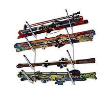 Metal Ski Storage Rack | Adjustable Skis Home Wall Mount | StoreYourBoard | NEW