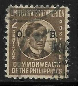 xsv180 Scott PHO44 US Possession Stamp 1941 2c Rizal Used Official Philippines