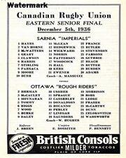 Grey Cup 1936 Ottawa Rough Riders vs Sarnia Imperials Game Program 8 X 10 Photo