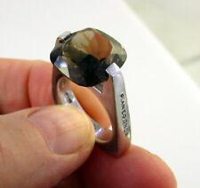 Estate Unusual Signed FRANCO PIANEGONDA Italy Sterling Silver Smoky Quartz Ring