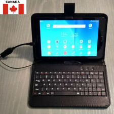 "NEW PU Leather Case w/ Keyboard for 7""&8"" Android Tablets Built-In USB Cable"