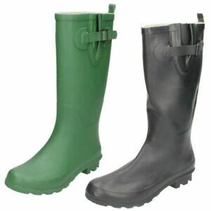 Ladies Spot On Flat 'Wellington Boots'