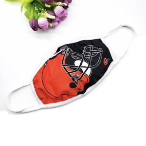 Cleveland Browns Face Mask NFL Football Sports Protective Covering Reusable