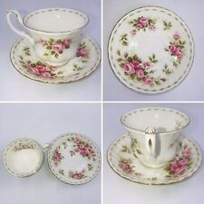 Royal Albert June Roses Flower Of The Month Tea Cup & Saucer Bone China England