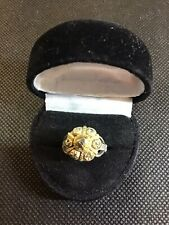Captivating Antique Victorian Rose Cut Diamond- Two Tone Gold Ring