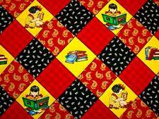 RARE 2004 MARY ENGELBREIT LEARN BOOKS LOVE READ GIRL HOME COTTON FABRIC FQ