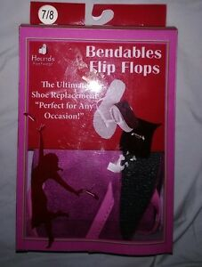 Hounds Bendables folding Flip-Flops Pink Size 7/8 New in Box.