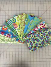 OOP Play Fabric by Jackie Shapiro Fat Quarter Bundle Windham in Green and Blue