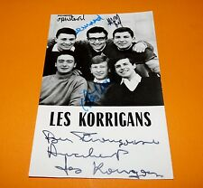 CPA LES KORRIGANS CHANTEURS GROUPE 60's YEYE DEDICACEE RECTO VERSO 1965