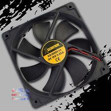"Square Rotary Quiet Cooling Fan 6"" x 1"" Slim 12Volt Marine Automotive Computer"