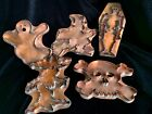 MICHAEL BONNE LOT OF 5 COPPER COOKIE CUTTERS WITCH SKELETON GHOST SPIRIT SKULL