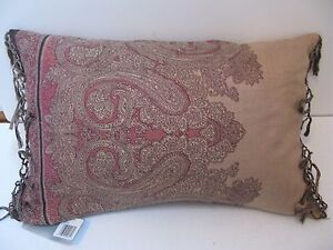Charisma ORLANDO Wool Deco Pillow NWT Fringed ends