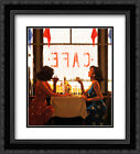Cafe Days 2x Matted 20x24 Black Ornate Framed Art Print by Jack Vettriano
