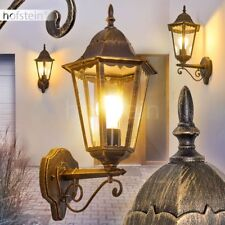 Veranda Terrassen Garten Hof Lampen braun-gold Außen Wand Beleuchtung klassisch