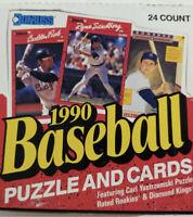 1990 DONRUSS BASEBALL UNOPENED CELLO BOX 24 Packs