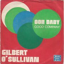 """GILBERT O'SULLIVAN OH BABY / GOOD COMP UNIQUE COVER 1973 RECORD YUGOSLAVIA 7"""" PS"""