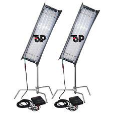 E-ballast for video Studio + 2 Kits x 300W 4ft 4 bank SELECT Fluorescent Light