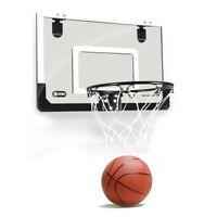 Mini Basketball Hoop With Ball 18 inch x12 inch Shatterproof Backboard U9A8