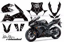 AMR Racing Graphics Decal Wrap Kit Yamaha R1 Street Bike 2004-2005 RELOADED WHTE