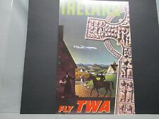 TWA  Airline  Travel Poster Ireland From  American Express Travel Office