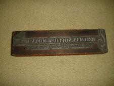 Vintage Bregman Vocco & Conn Inc. Metal Plate Letter Ink Press-Sheet Music-LQQK