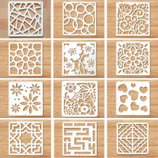 White Hanging Room Divider Screen Panels Wood-Plastic Board 12Pcs/Set 11x11 Inch