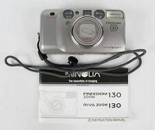 Minolta Freedom Zoom 130 35mm Film Range Finder Camera w/Manual